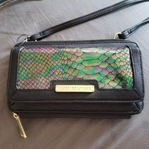 Juicy Couture Cross Body Snake Print Wallet Purse